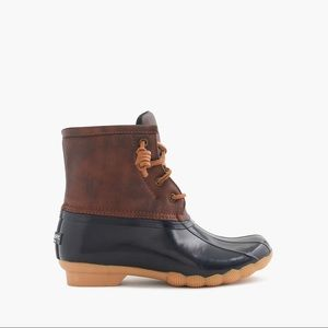 J Crew for Sperry Saltwater Duck Boots Rain Boots
